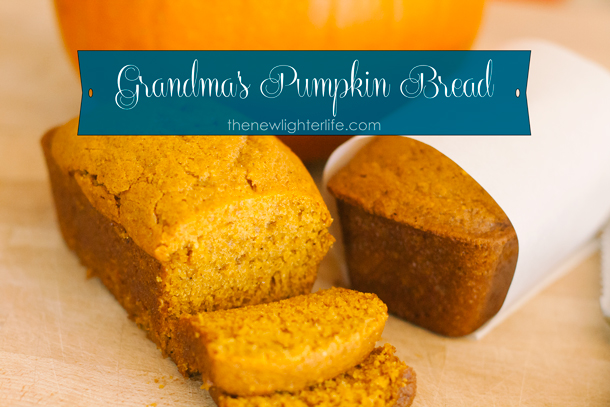 Grandma's Pumpkin Bread ~ From Scratch