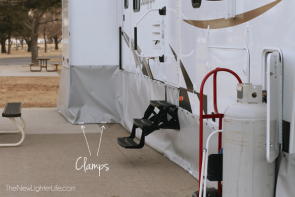 RV Vinyl Skirting Update – Pipe Clamp System