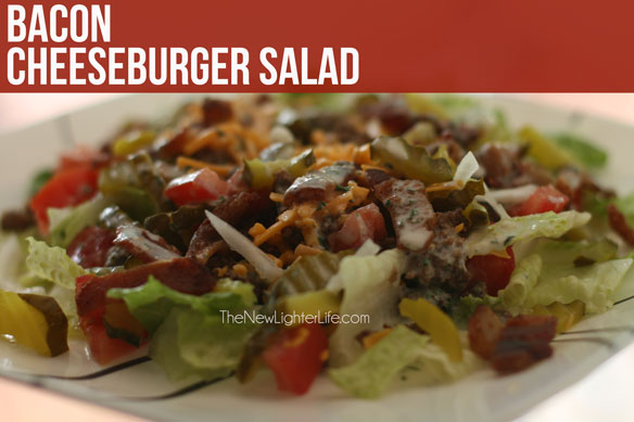 Bacon Cheeseburger Salad ~ THM S - The New Lighter Life