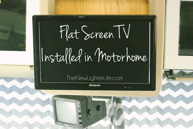 how to install a flat screen tv in a motorhome