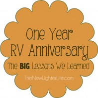 Our First RV Anniversary