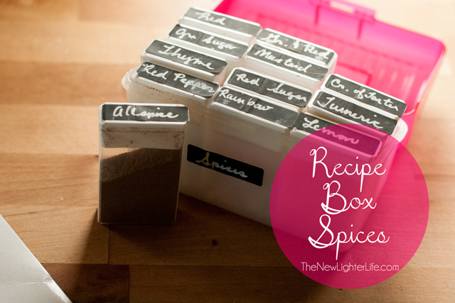 Recipe Box Spices