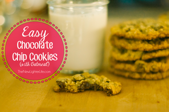 Easy Chocolate Chip Cookies (with Oatmeal)