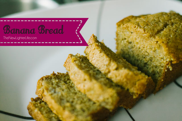 Healthy Banana Bread Recipe - Less Sugar and Sprouted Grain