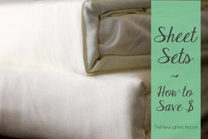 Sheet Sets ~ How to Save Money