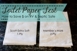 Toilet Paper Test Save Money on RV or Septic Safe