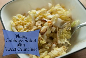 Napa Cabbage Salad ~ With Sweet Crunchies