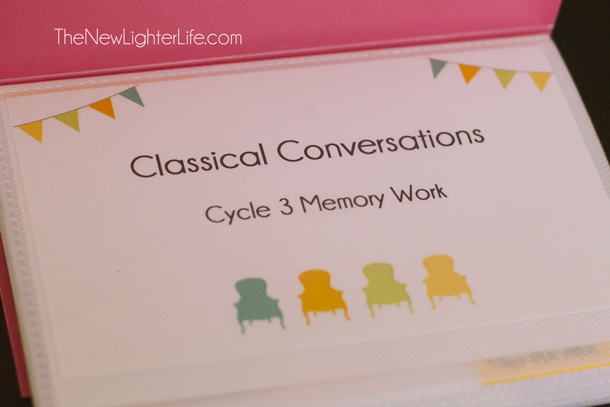 Classical Conversations Cycle 3 Memory Work Flip Book