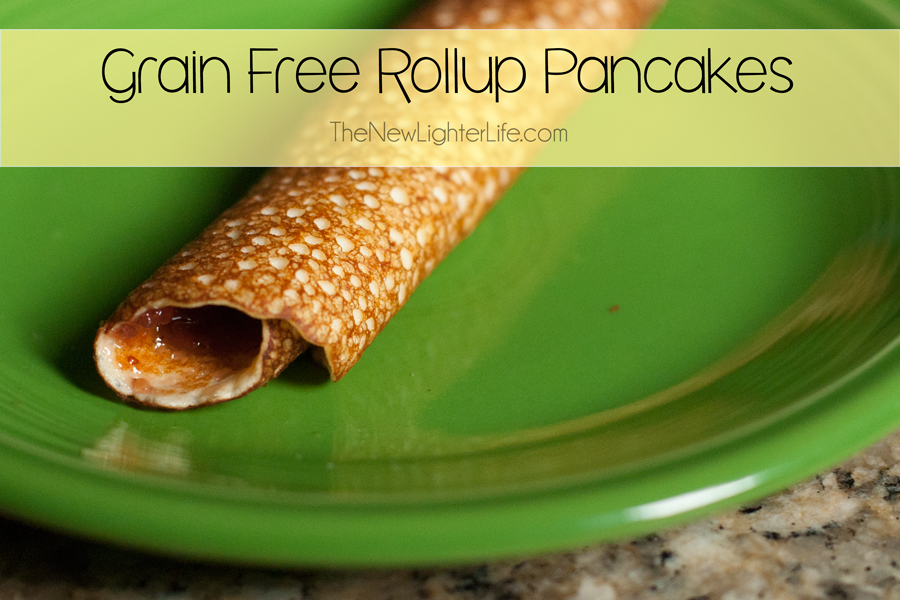 Grain Free Rollup Pancakes ~ Kid Friendly