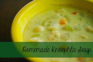 Homemade Knoephla Soup