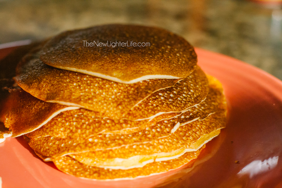 Grain Free Rollup Pancakes ~ Kid Friendly ~ Stacked