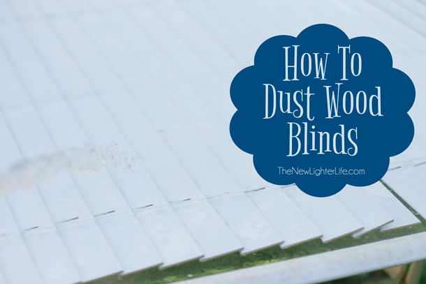 How to Dust Wood Blinds - Fast