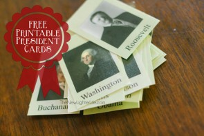 U.S. Presidents Miniature Cards – FREE Printable