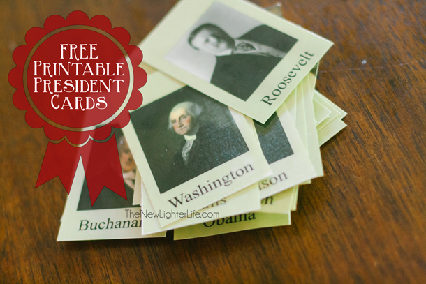 U.S. Presidents Miniature Cards - FREE Printable