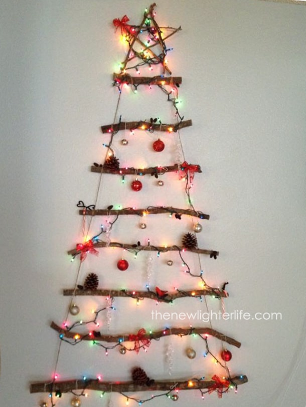diy driftwood twig christmas tree