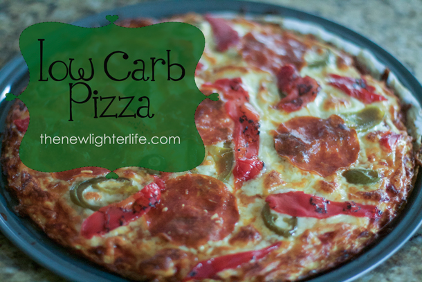 Easy Low Carb Pizza by TheNewLighterLife.com