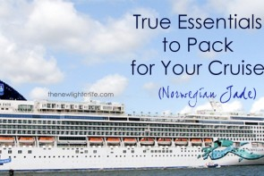 essentials to pack for a cruise