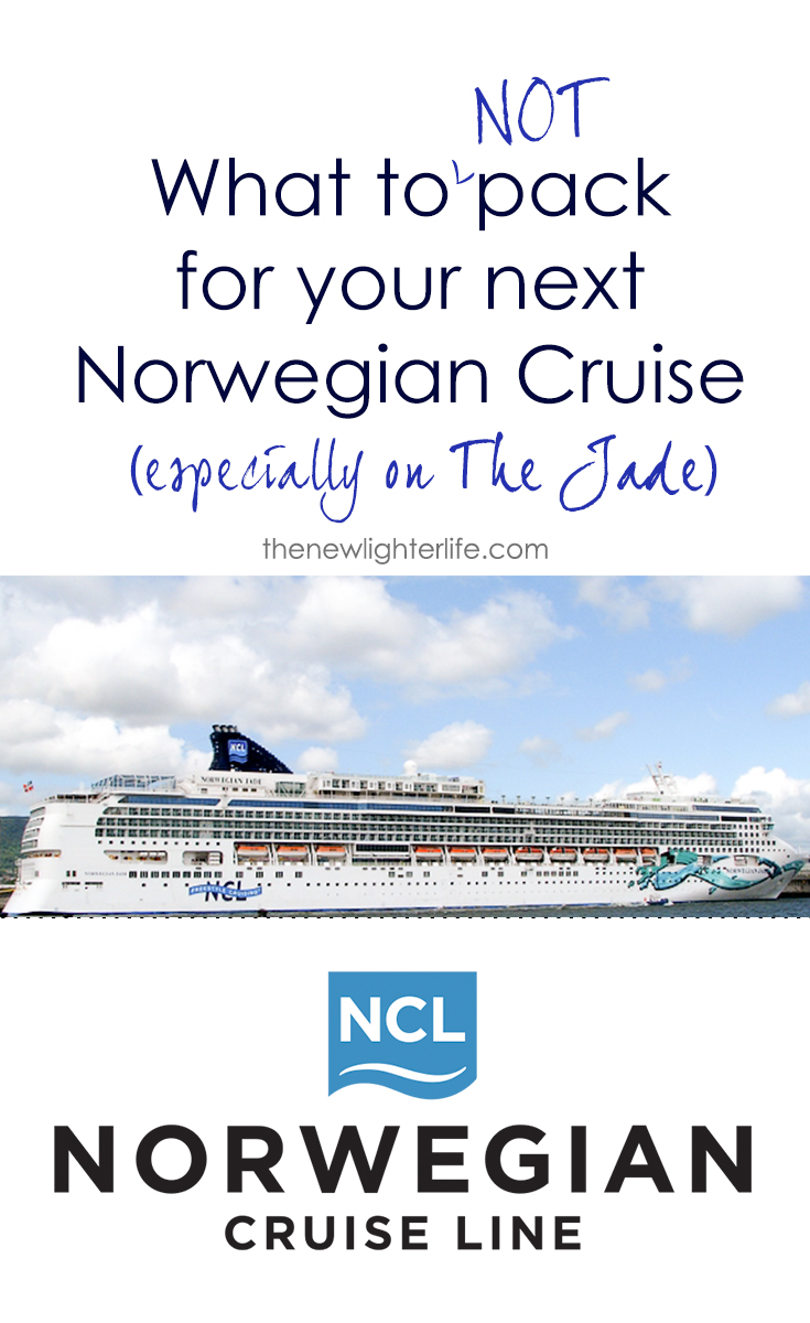 We packed everything AND the kitchen sink on our recent Norwegian Cruise, here is a list of things you DON'T need if you are cruising with Norwegian on the Jade.